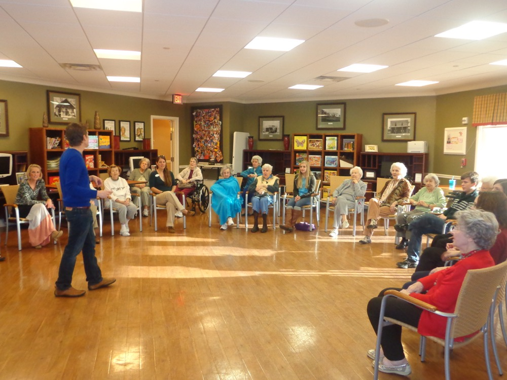 Intergenerational Rock Band Seniors and Students Make Music Together at Arbor Terrace at Crabapple in Atlanta with The George Center for Music Therapy