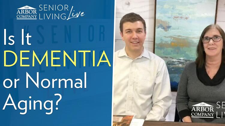 Senior Living LIVE: Is it DEMENTIA or Just Normal Aging?
